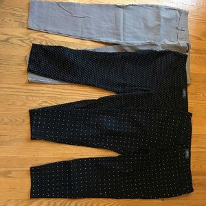 Lot of 3 mid rise pixie pants